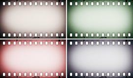 Insieme della foto variopinta, strisce di pellicola dell'immagine Immagine Stock