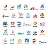 Insieme della freccia del logos di vettore Fotografie Stock