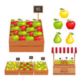 Insieme della frutta Fotografia Stock