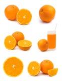 Insieme della frutta arancione Immagine Stock Libera da Diritti