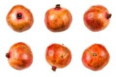Insieme della frutta del melograno Fotografie Stock Libere da Diritti