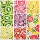 Insieme della frutta, delle verdure e di altri prodotti Immagine Stock