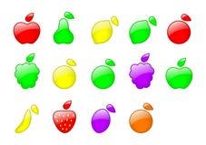 Insieme della frutta di colore Immagine Stock Libera da Diritti