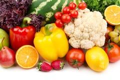 insieme della frutta e delle verdure Immagini Stock Libere da Diritti