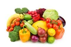 Insieme della frutta e delle verdure Fotografie Stock