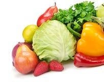 Insieme della frutta e delle verdure Fotografie Stock Libere da Diritti