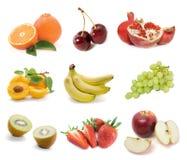 Insieme della frutta fresca Fotografie Stock Libere da Diritti