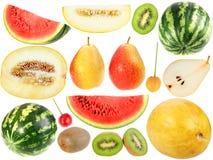 Insieme della frutta fresca e dei berryes Fotografie Stock Libere da Diritti