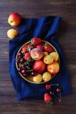 Insieme della frutta fresca e della bacca Immagine Stock Libera da Diritti