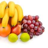 Insieme della frutta su priorità bassa bianca Immagini Stock