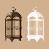 Insieme della gabbia per uccelli illustrazione di stock