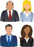 Insieme della gente di affari delle icone Fotografia Stock Libera da Diritti