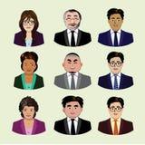 Insieme della gente di affari delle icone Immagini Stock Libere da Diritti