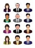 Insieme della gente di affari delle icone isolate Immagine Stock