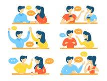 Insieme della gente di conversazione illustrazione di stock