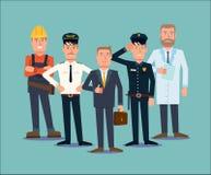Insieme della gente di professioni Vettore piano Immagini Stock Libere da Diritti