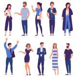 Insieme della gente di vettore royalty illustrazione gratis