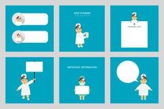 Insieme della gente Medico dell'otorinolaringoiatra professione Medico della donna nelle pose differenti Fotografie Stock