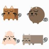Insieme della geometria di forma del gatto royalty illustrazione gratis