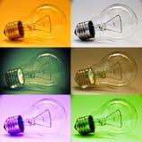Insieme della lampada di colore Fotografia Stock