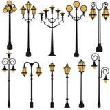 Insieme della lampada di via Fotografia Stock