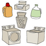 Insieme della lavanderia Immagine Stock