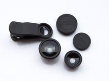 Insieme della lente della clip Immagine Stock