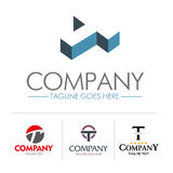 Insieme della lettera T di logo Fotografie Stock