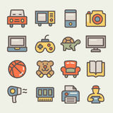 Insieme della linea icone per il commercio elettronico Immagini Stock