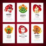 Insieme della luce delle cartoline d'auguri di Natale immagine stock