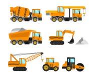 Insieme della macchina della costruzione illustrazione di stock