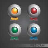 Insieme della macchina fotografica di web Immagine Stock Libera da Diritti
