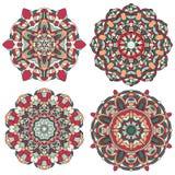 Insieme della mandala multicolore di vettore illustrazione di stock