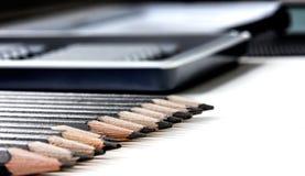 Insieme della matita immagini stock