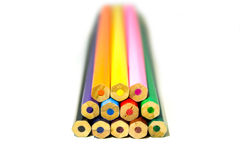 Insieme della matita di colore Fotografie Stock