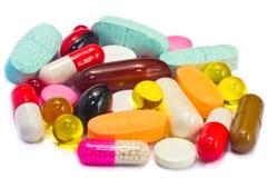 Insieme della medicina delle pillole immagini stock