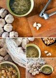 Insieme della minestra dell'aglio Immagine Stock Libera da Diritti