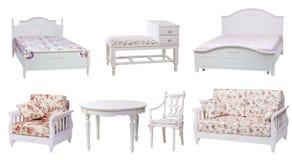 Insieme della mobilia del salone e della camera da letto Fotografia Stock