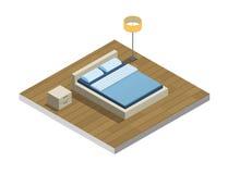 Insieme della mobilia della camera da letto, stanza accogliente Fotografie Stock