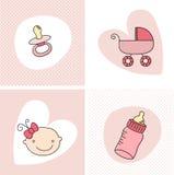 Insieme della neonata Immagine Stock