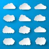 Insieme della nuvola illustrazione di stock