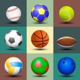 Insieme della palla isolato Fotografia Stock Libera da Diritti