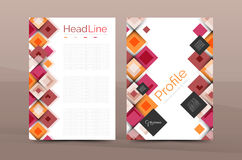 Insieme della parte anteriore e delle pagine posteriori di dimensione a4, modelli di progettazione del rapporto annuale di affari Immagini Stock