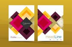 Insieme della parte anteriore e delle pagine posteriori di dimensione a4, modelli di progettazione del rapporto annuale di affari Fotografia Stock Libera da Diritti