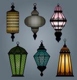 Insieme della parte 1 araba della lanterna illustrazione di stock