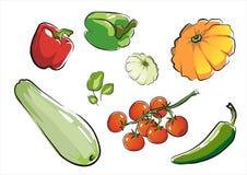 Insieme della parte isolata 1. delle verdure. Immagine Stock Libera da Diritti