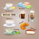 Insieme della pausa caffè royalty illustrazione gratis