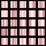 Insieme della pendenza rosa Raccolta di pendenza di colore di Rosa Vettore Fotografia Stock