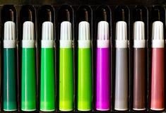 Insieme della penna di colore Fotografie Stock Libere da Diritti