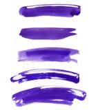 Insieme della pittura diritta multipla di porpora dell'acquerello Immagine Stock